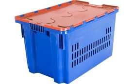 Ящик с крышкой 600x400x365 перфорированные стенки Артикул 604-1