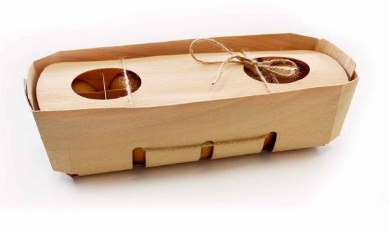 Деревянная упаковка с крышкой