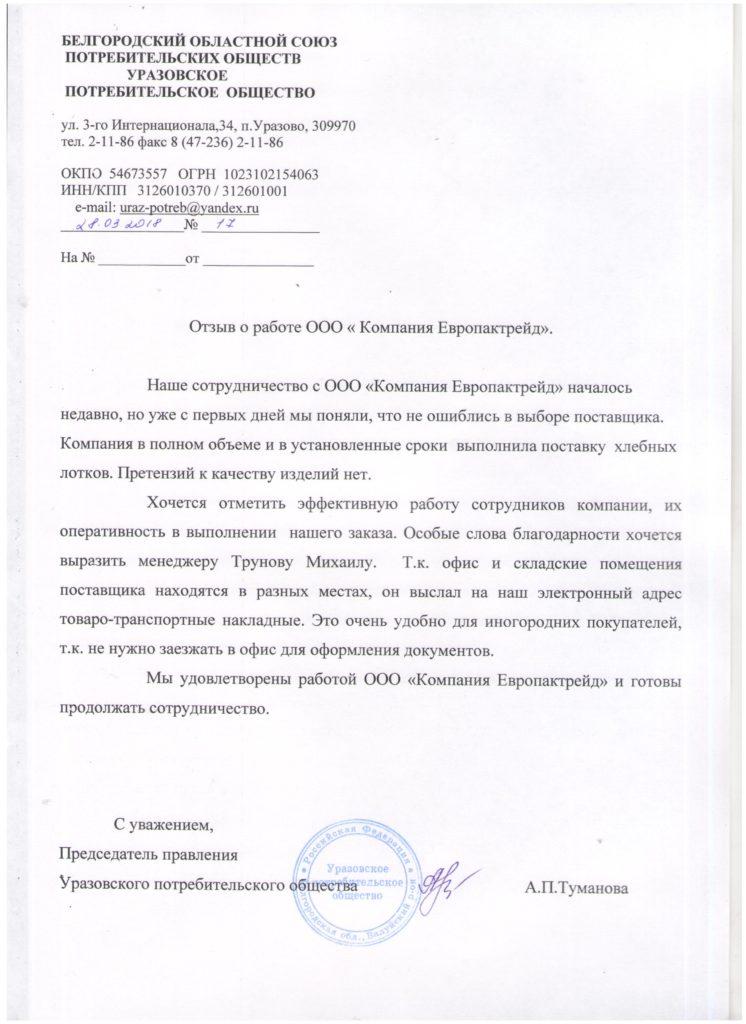 Отзывы о компании ООО Европактрейд