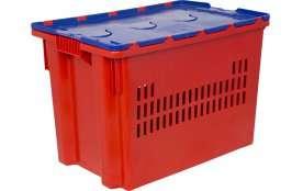Ящик с крышкой 600x400x415 перфорированные стенки Артикул606-1