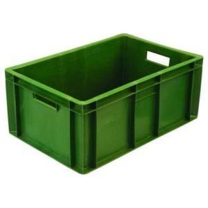 Пластиковый ящик мясной арт. 204 зеленый