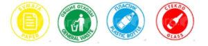 наклейки для мусорных контейнеров