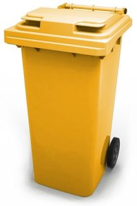 арт МКТ 240 Мусорный контейнер 240л желтый