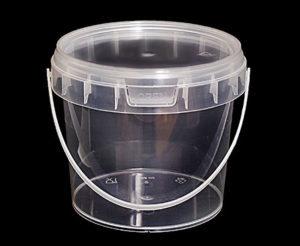Ведро пластиковое 365 мл с крышкой круглое