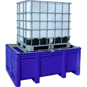 BoxPallet для отходов (1100 л) синий (в комплекте с решеткой) 11-174-N