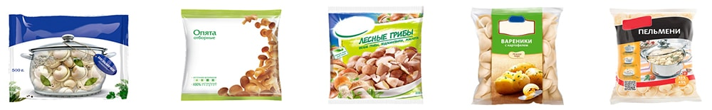 Упаковка для пельменей, вареников, замороженных овощей, фруктов, ягод, грибов