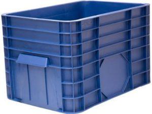 Ящик п/э 710х500х455 сплошной (120л) синий