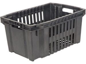 Черный пластиковый ящик