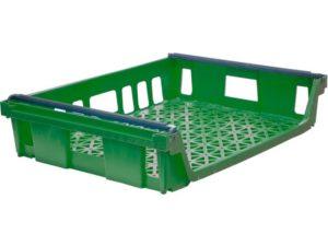 Ящик со складываемыми ручками п/э 744х557х167 мм