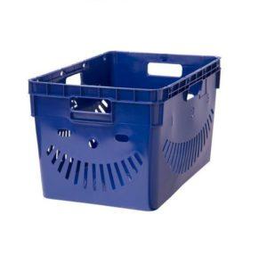 Ящик п/э 600x400x340 перфорированный, стенки с отверстиями для пакетов