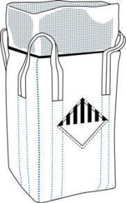 Антистатический биг-бег, верх юбка, дно глухое