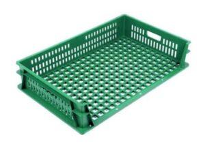 Хлебный пластиковый 3-х бортный ящик