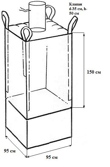 Биг-бэг для мелкодисперсных материалов гипса