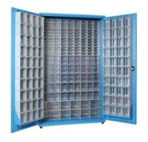 Шкаф металлический с ящиками большой