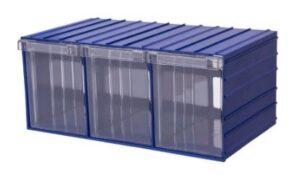 Ящик пластиковый прозрачный в корпусе. Ящик для склада. Ящик plastic drawer