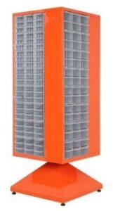 Стойка поворотная с ящиками. Шкаф металлический с ящиками.
