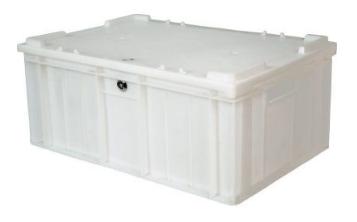 Ящик с крышкой и замком для мяса