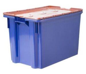 Пластковый ящик с пломбируемой крышкой