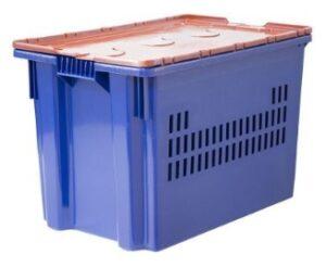 Пластиковый ящик с пломбируемой крышкой