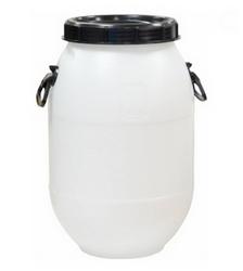 Пластиковая бочка 50 л с винтовой крышкой Арт.БПЗ 50 (белая)