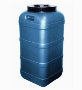 Пластиковая бочка квадратная 120 л (фляга) Арт.ФЛ-120Н