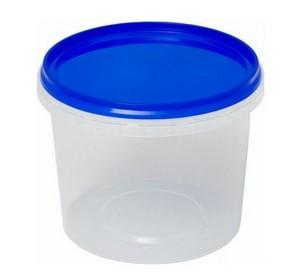 Ведро пластиковое с крышкой 0,55 л Арт.ВП 0,55м