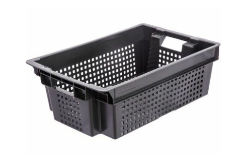 Ящик черный перфорированный 102