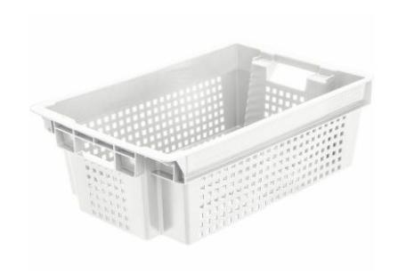 Ящик белый перфорированный морозостойкий 102