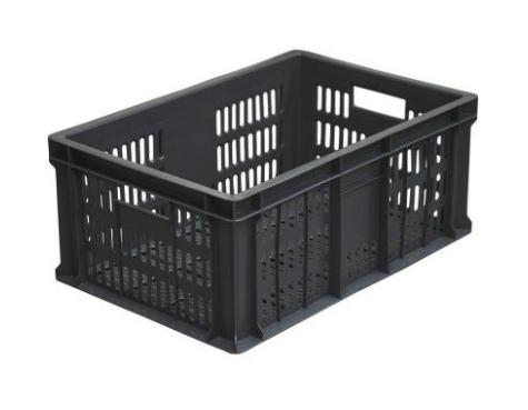 Ящик колбасный с перфорацией черный