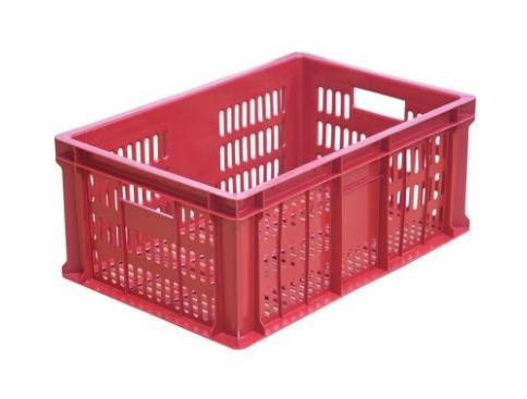 Ящик колбасный с перфорацией красный