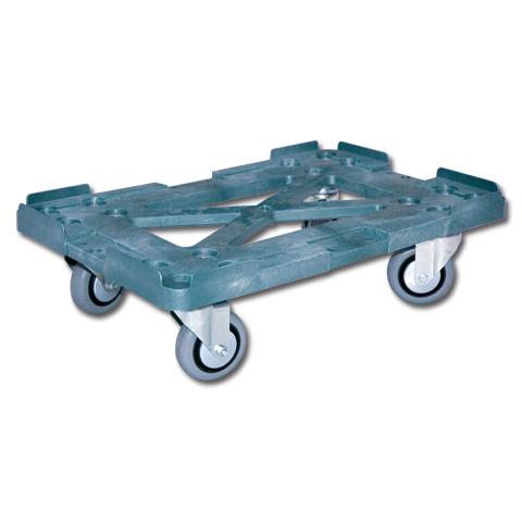 Тележка для пластикового ящика (колеса серые) 600*400 арт 508-2