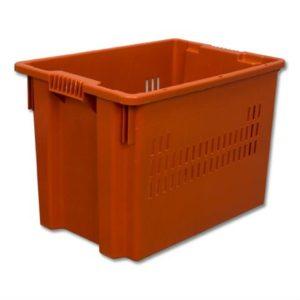 Ящик с крышкой 600x400x315 перфорированные стенки Арт.602-1