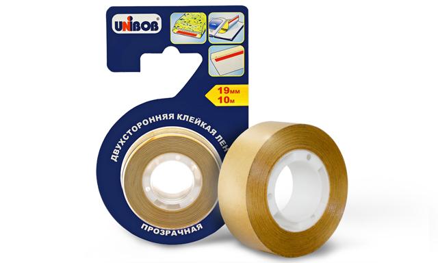Двухсторонняя клейкая лента прозрачная UNIBOB®