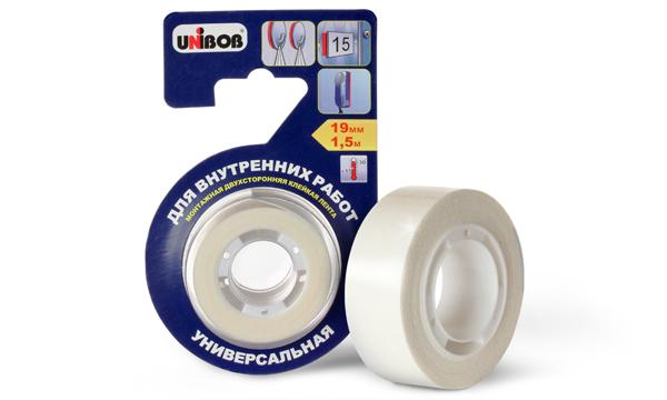 Двухсторонняя клейкая лента для внутренних работ UNIBOB®