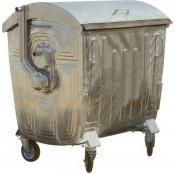 Оцинкованный мусорный контейнер 1100 литров Артикул МКЦ 1100