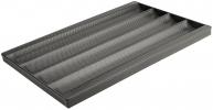 Противень багетный 4 ряда алюминиевый 600 х 400 х 32