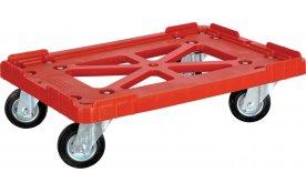Тележка для пластикового ящика (колеса черные) 600*400 артикул 508